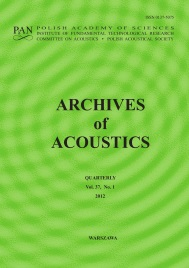 archives of acoustics cover